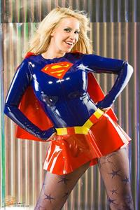 Girls dressed up as Supergirl