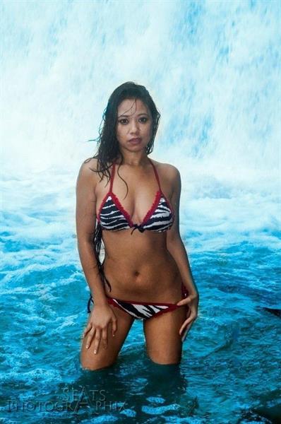 Judee in a bikini