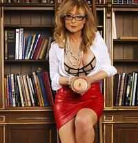 Nina Hartley in lingerie