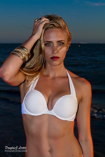 Aqueela Zoll in a bikini