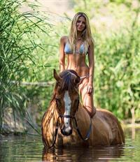 Sarah Kohan in a bikini