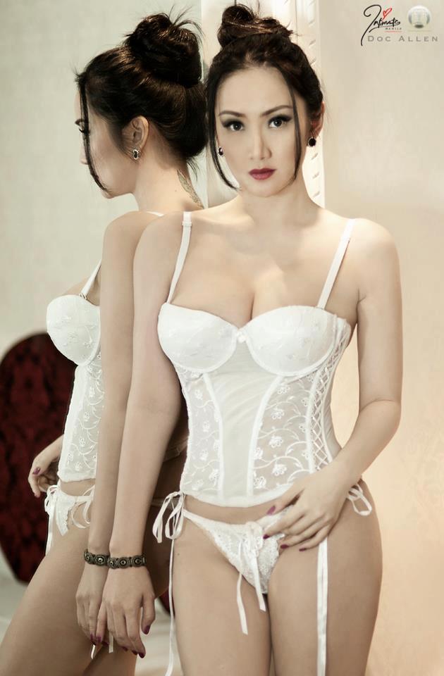 Paulene So in lingerie