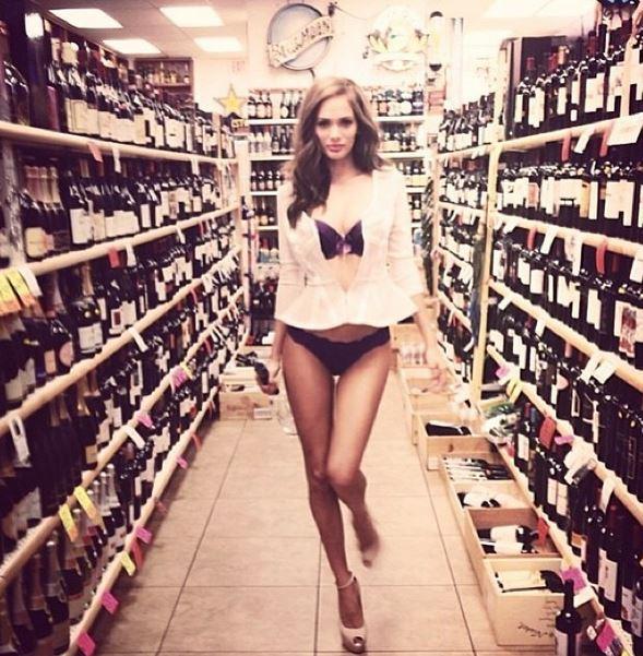 Jessica Dykstra in a bikini