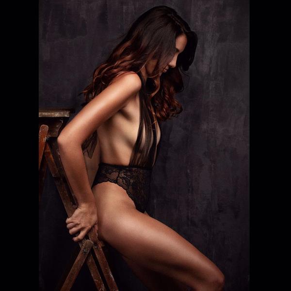 Delphine Wespiser in lingerie