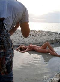 Anne Vyalitsyna in a bikini