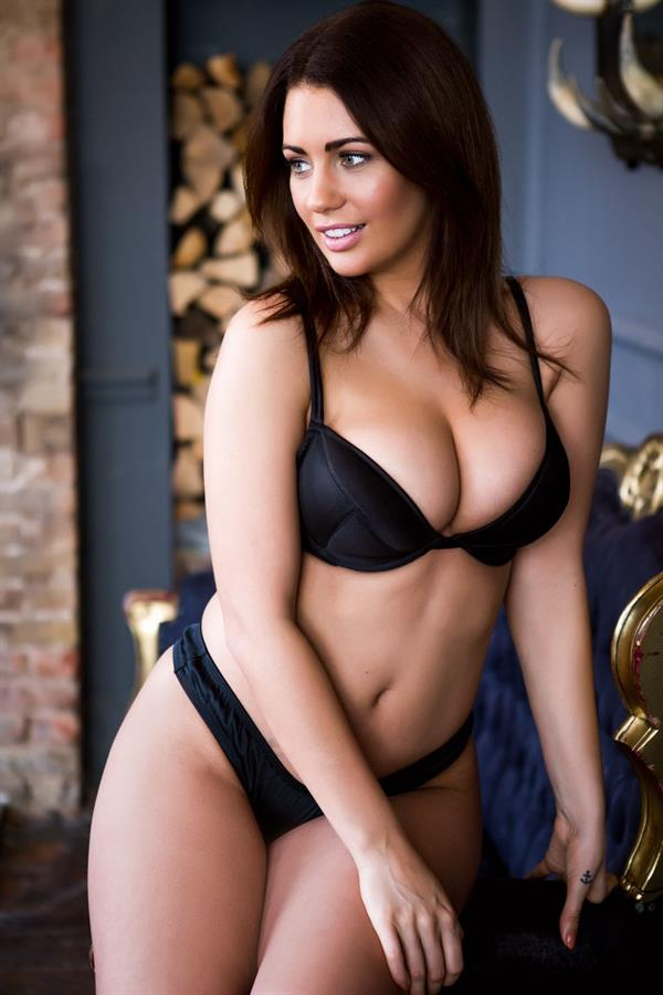 Holly Peers in lingerie