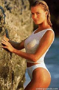 Vendela Kirsebom in a bikini