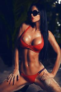 Gayana Bagdasaryan in a bikini