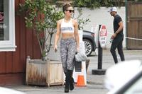Kate Beckinsale sexy in a tank top and tights seen by paparazzi she has to be the hottest 45 year old.