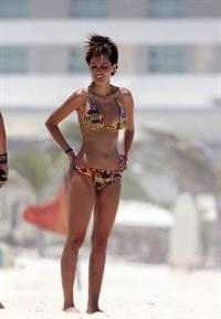 Patricia Zavala sexy ass in a bikini seen at the beach by paparazzi.