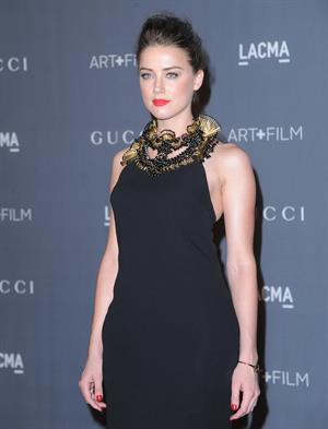 Amber Heard LACMA Art Film Gala in Los Angeles on October 27, 2012