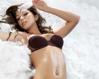 Nikki Sanderson in lingerie