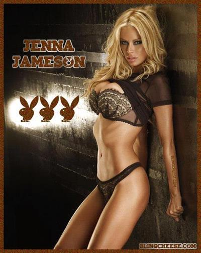 Jenna Jameson in lingerie