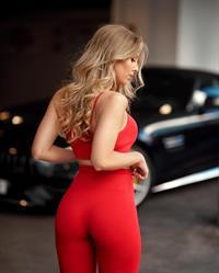 Hot blonde German model Alexa Breit - ass