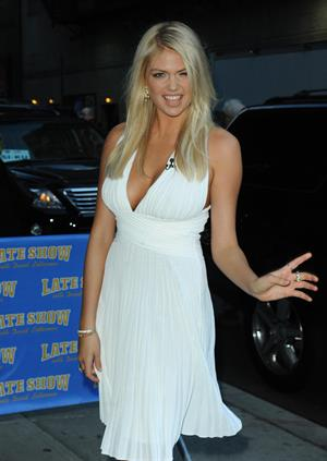 Kate Upton at the Late Show on February 13, 2012