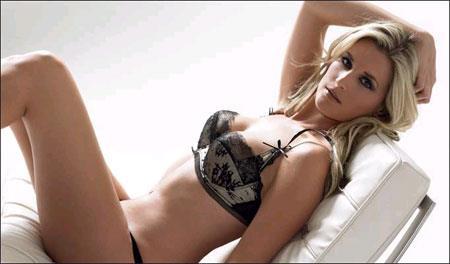 Sarah Jayne Dunn in lingerie