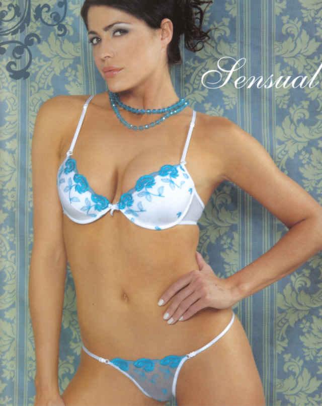 Pamela David in lingerie