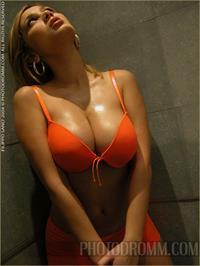 Lenka Gaborova in lingerie