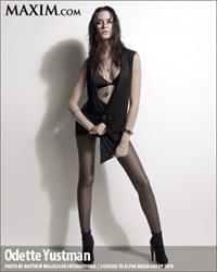 Odette Yustman in lingerie