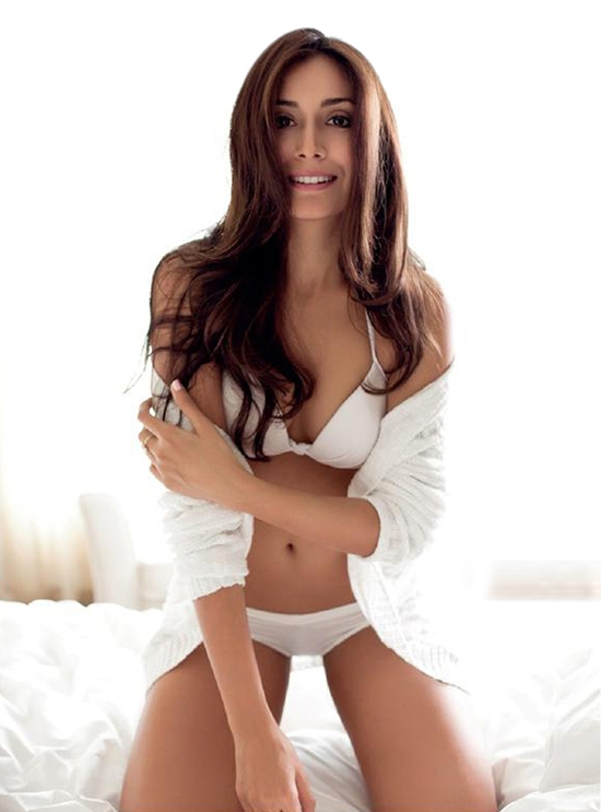 Monica Dogra in a bikini