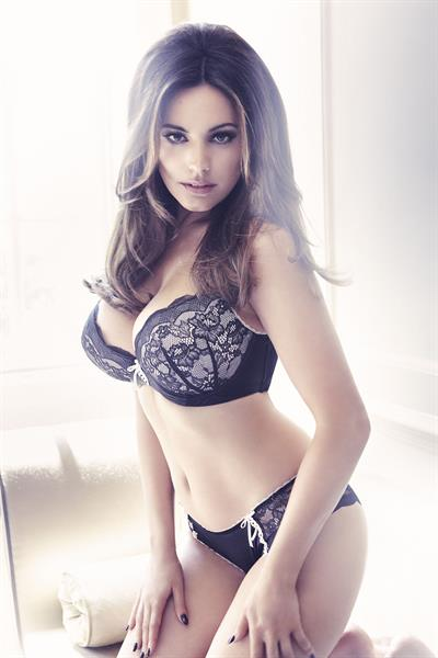 Kelly Brook in sexy lingerie.