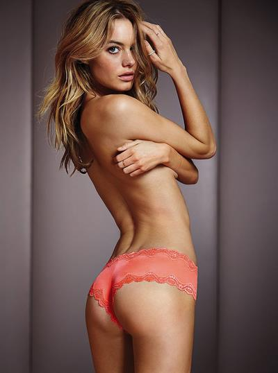 Camille Rowe in lingerie - ass