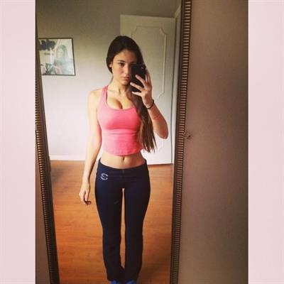 Angie Varona taking a selfie