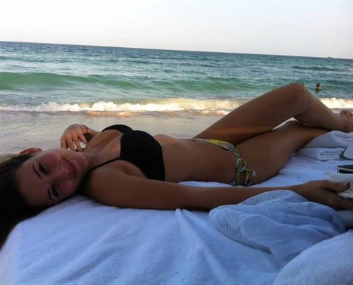 Angie Varona in a bikini
