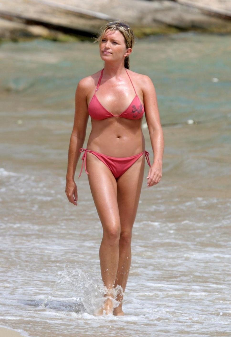 Tina Hobley in a bikini