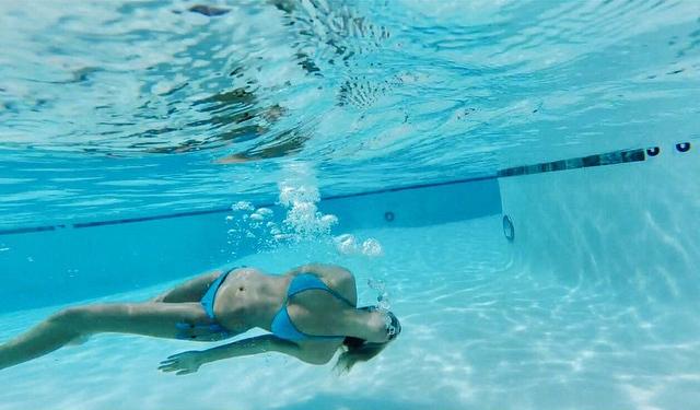 Cecilie Nordahl in a bikini