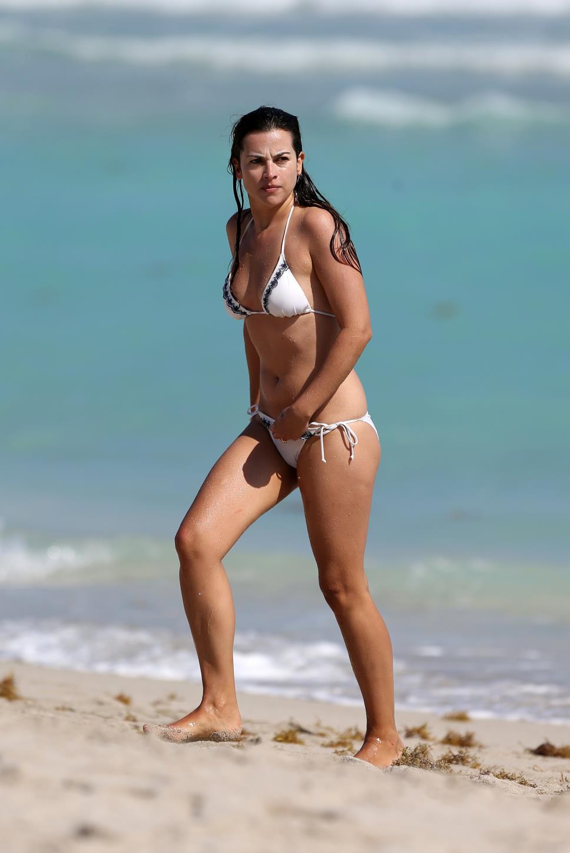 Amelia Warner in a bikini
