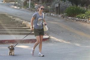 Natalie Portman – walking her dog in LA 8/16/13