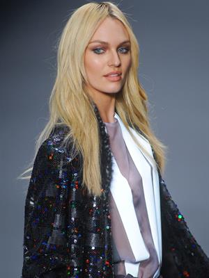 Candice Swanepoel at a fashion show in Sao Paulo