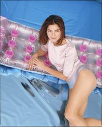 Jill Hennessy in lingerie