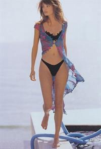 Helena Christensen in lingerie