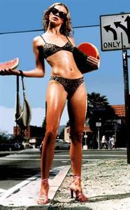 Amy Smart in a bikini